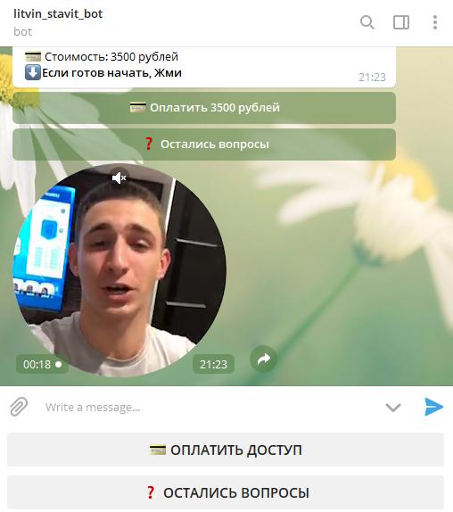 Стоимость подписки Литвин Ставит в телеграмм